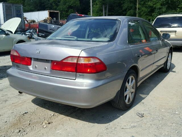 1HGCG1656YA022223 - 2000 HONDA ACCORD EX GRAY photo 4