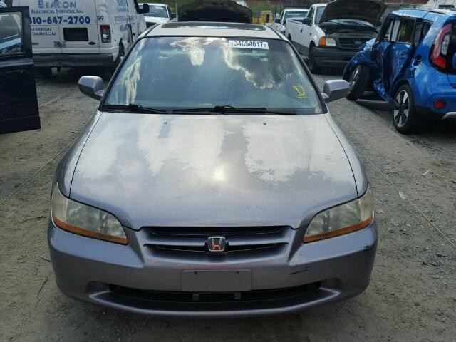 1HGCG1656YA022223 - 2000 HONDA ACCORD EX GRAY photo 9