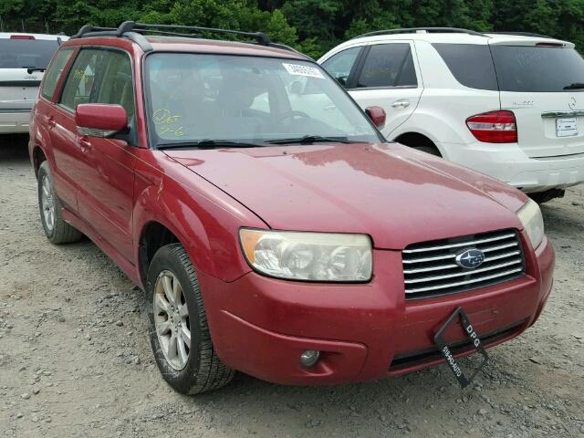 JF1SG65617H717500 - 2007 SUBARU FORESTER 2 RED photo 1