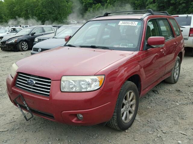 JF1SG65617H717500 - 2007 SUBARU FORESTER 2 RED photo 2