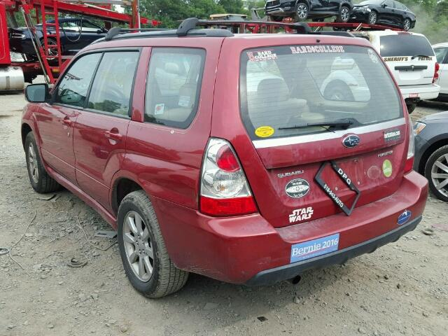JF1SG65617H717500 - 2007 SUBARU FORESTER 2 RED photo 3