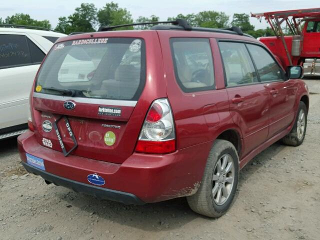 JF1SG65617H717500 - 2007 SUBARU FORESTER 2 RED photo 4
