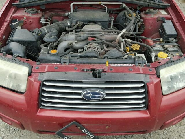 JF1SG65617H717500 - 2007 SUBARU FORESTER 2 RED photo 7
