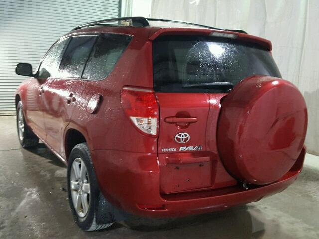 JTMBD31V265006807 - 2006 TOYOTA RAV4 LIMIT RED photo 3
