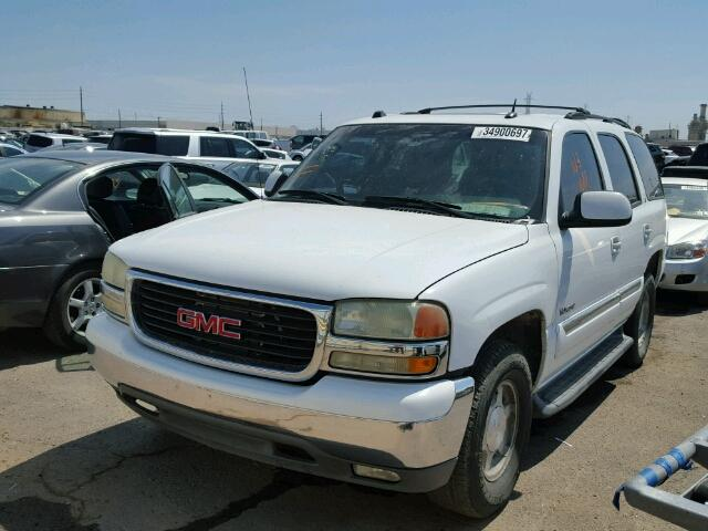 1GKEC13T44R278916 - 2004 GMC YUKON WHITE photo 2