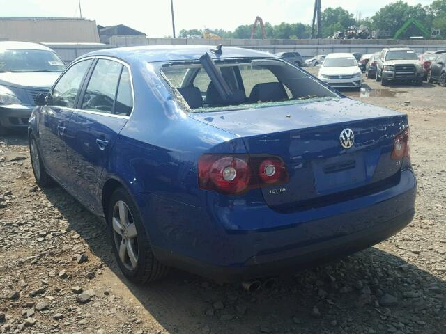 3VWRZ71K49M016831 - 2009 VOLKSWAGEN JETTA SE BLUE photo 3