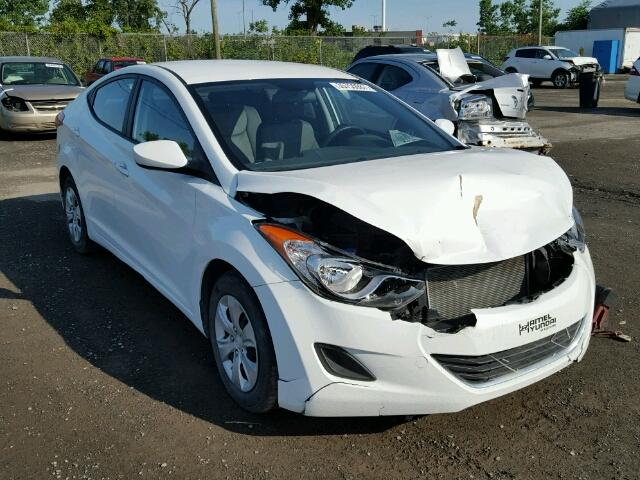 5NPDH4AE8DH300308 - 2013 HYUNDAI ELANTRA GL WHITE photo 1
