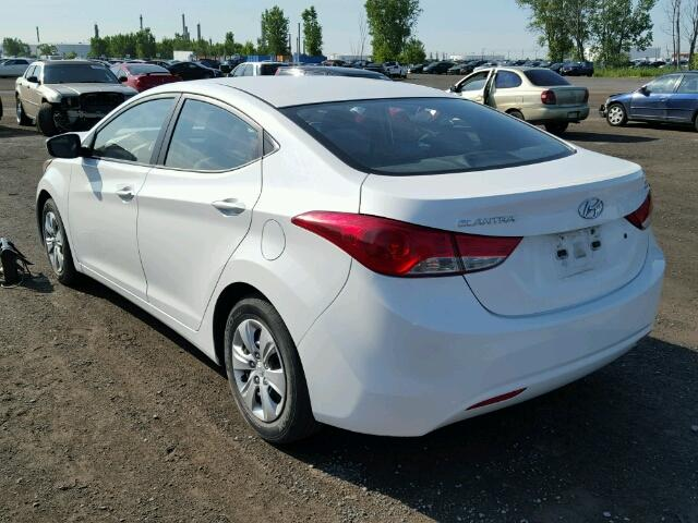5NPDH4AE8DH300308 - 2013 HYUNDAI ELANTRA GL WHITE photo 3