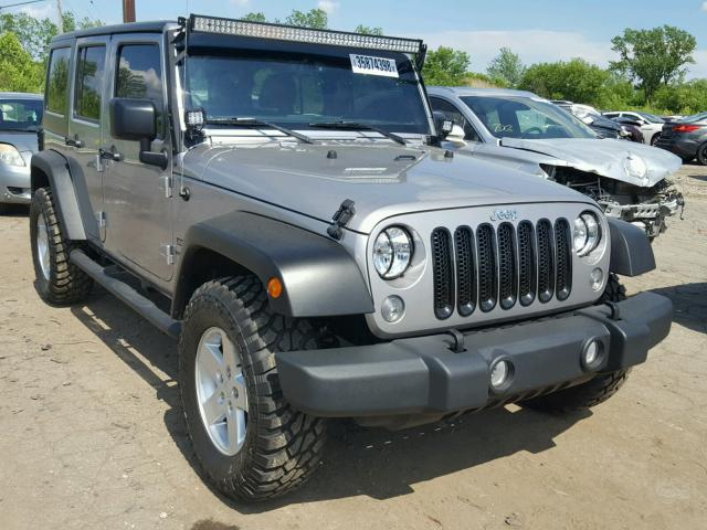 1C4BJWDG8FL730293 - 2015 JEEP WRANGLER U GRAY photo 1