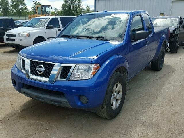 1N6AD0CU8DN753403 - 2013 NISSAN FRONTIER S BLUE photo 2