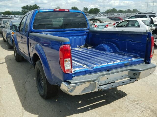 1N6AD0CU8DN753403 - 2013 NISSAN FRONTIER S BLUE photo 3