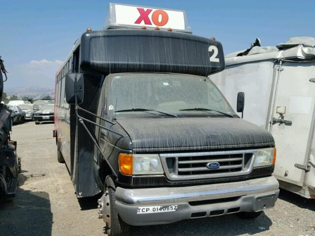 1FDXE45SX6DA05737 - 2006 FORD E450 SUPER BLACK photo 1