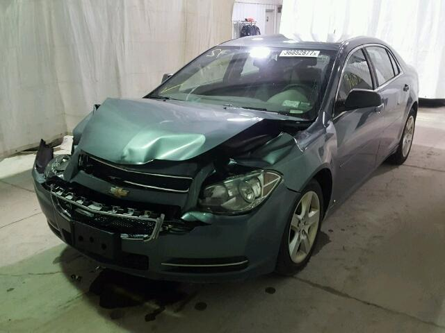 1G1ZG57B294174660 - 2009 CHEVROLET MALIBU LS GREEN photo 2