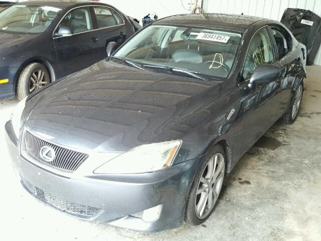 JTHBK262175029882 - 2007 LEXUS IS CHARCOAL photo 2