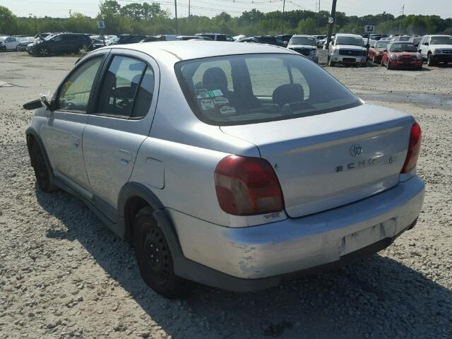 JTDBT123610193785 - 2001 TOYOTA ECHO SILVER photo 3