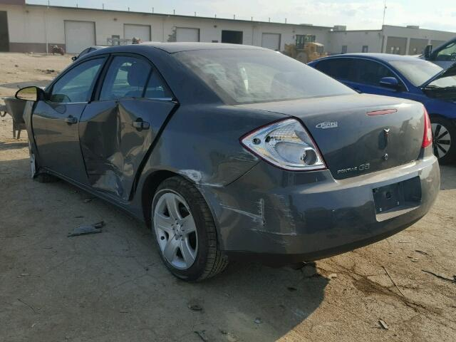 1G2ZG57B894123207 - 2009 PONTIAC G6 GRAY photo 3