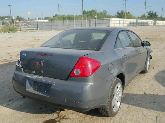 1G2ZG57B894123207 - 2009 PONTIAC G6 GRAY photo 4