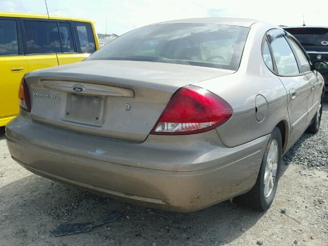 1FAFP56U57A196587 - 2007 FORD TAURUS SEL TAN photo 4