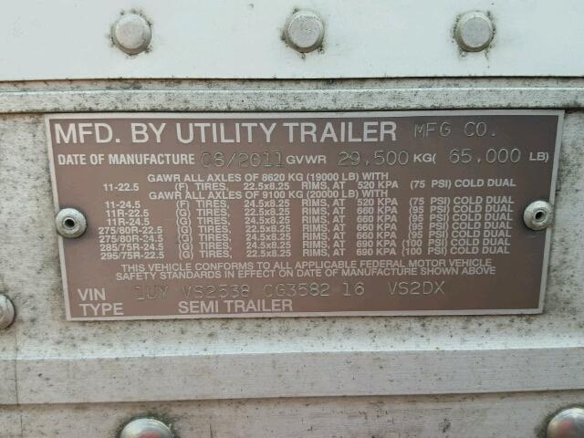 1UYVS2538CG358216 - 2012 UTILITY TRAILER WHITE photo 10