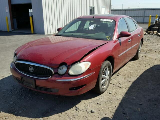2G4WD532X51325402 - 2005 BUICK LACROSSE C MAROON photo 2