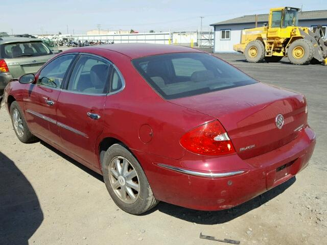 2G4WD532X51325402 - 2005 BUICK LACROSSE C MAROON photo 3