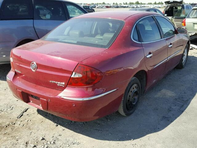 2G4WD532X51325402 - 2005 BUICK LACROSSE C MAROON photo 4