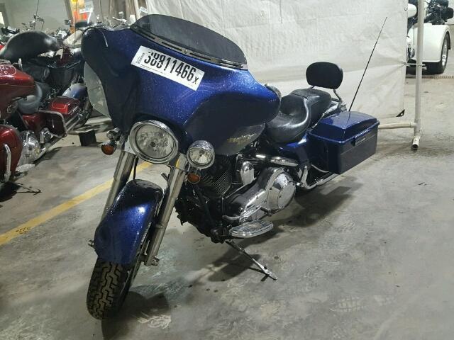 1HD1KBW136Y692998 - 2006 HARLEY-DAVIDSON FLHXI BLUE photo 2
