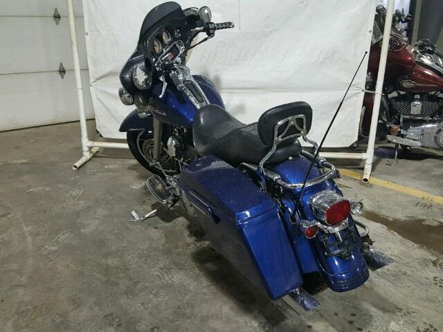 1HD1KBW136Y692998 - 2006 HARLEY-DAVIDSON FLHXI BLUE photo 3