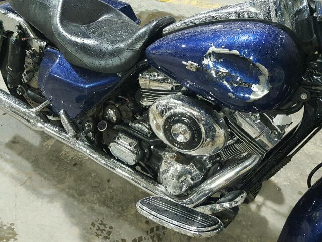 1HD1KBW136Y692998 - 2006 HARLEY-DAVIDSON FLHXI BLUE photo 9