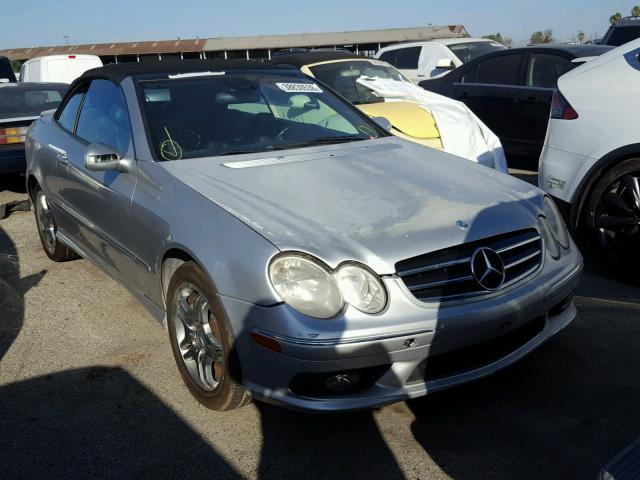 WDBTK76GX4T011501 - 2004 MERCEDES-BENZ CLK 55 AMG SILVER photo 1