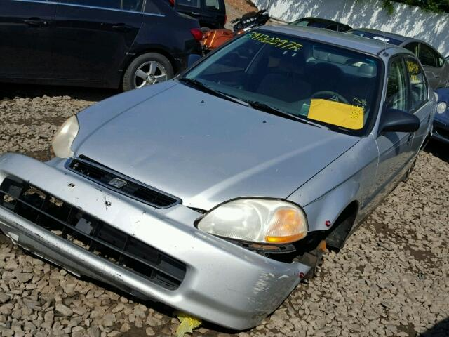 1HGEJ6678VL024564 - 1997 HONDA CIVIC LX GRAY photo 2