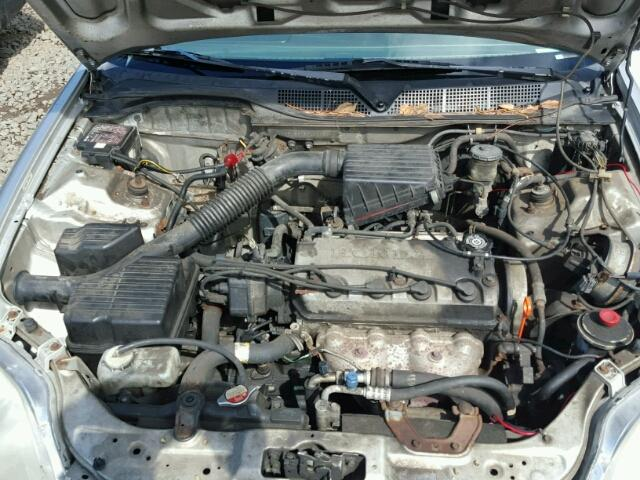 1HGEJ6678VL024564 - 1997 HONDA CIVIC LX GRAY photo 7