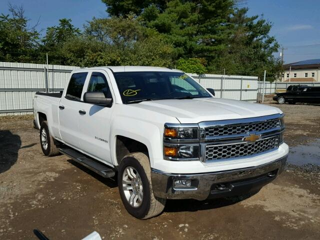 3GCUKREC4EG216827 - 2014 CHEVROLET SILVERADO WHITE photo 1