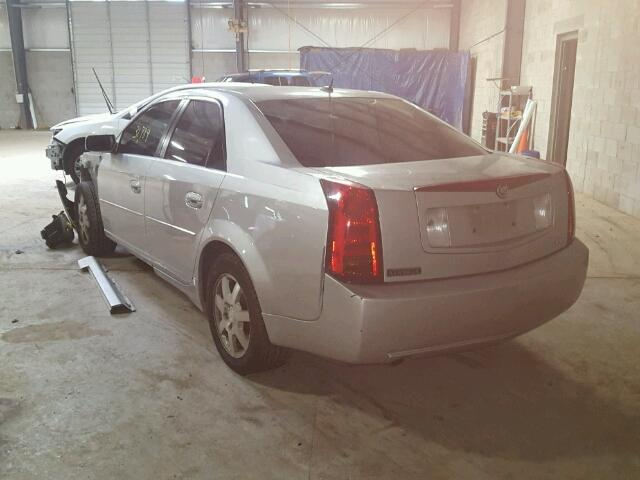 1G6DM57T560201164 - 2006 CADILLAC CTS SILVER photo 3