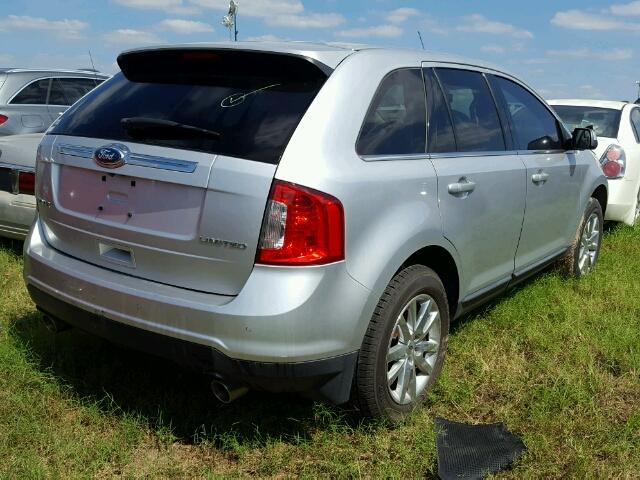 2FMDK3KC0CBA08960 - 2012 FORD EDGE LIMIT SILVER photo 4