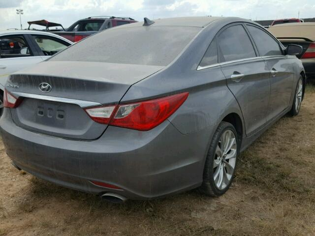 5NPEC4AC1BH049565   2011 HYUNDAI SONATA GRAY Photo 4