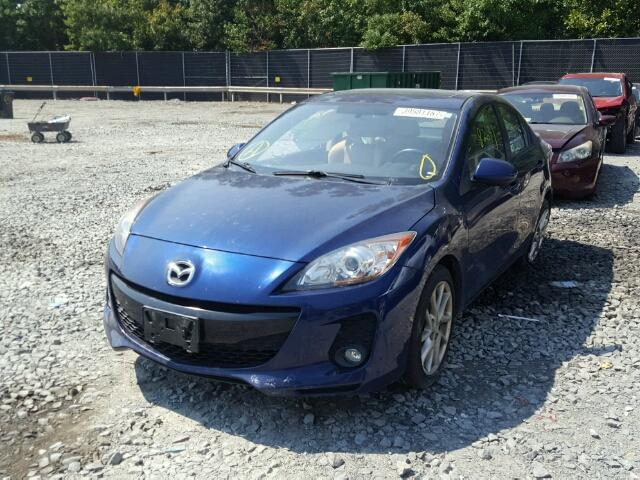 JM1BL1V66C1510614 - 2012 MAZDA 3 S BLUE photo 2