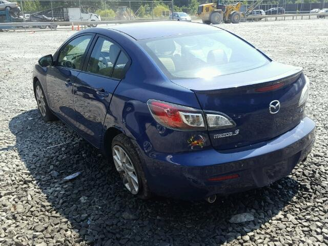 JM1BL1V66C1510614 - 2012 MAZDA 3 S BLUE photo 3
