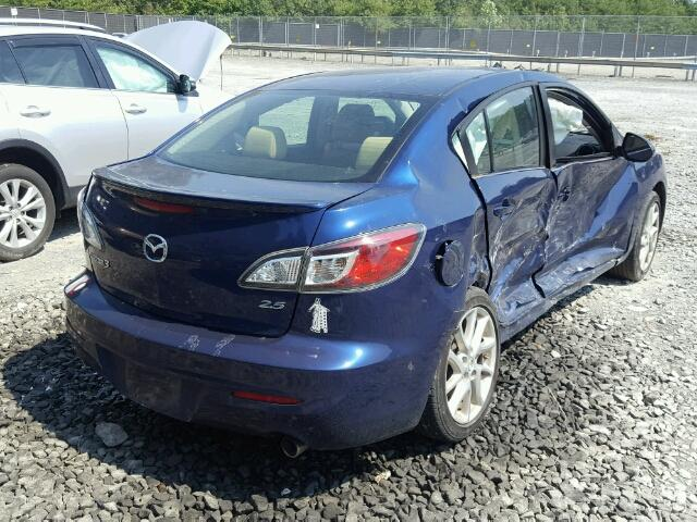 JM1BL1V66C1510614 - 2012 MAZDA 3 S BLUE photo 4