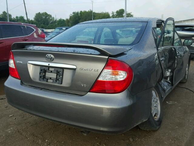 4T1BF32K93U566402 - 2003 TOYOTA CAMRY GRAY photo 4