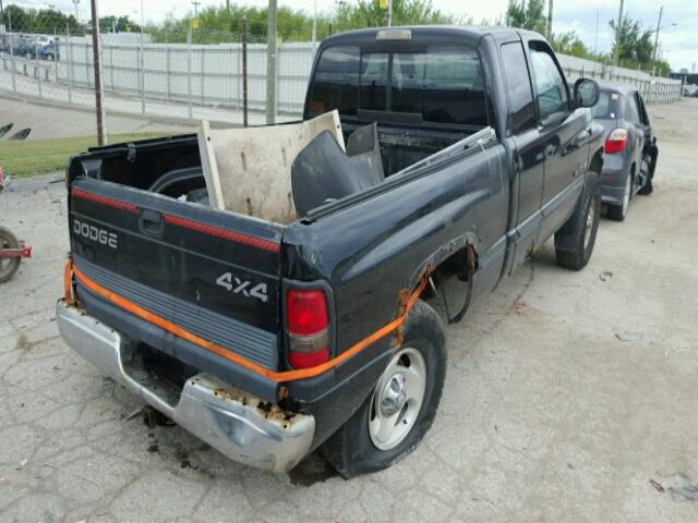 1B7HF13Y7XJ539700 - 1999 DODGE RAM 1500 BLACK photo 4