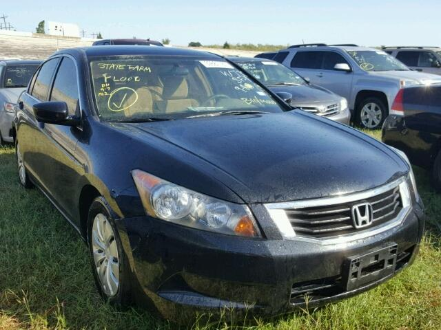 1HGCP26339A103721 - 2009 HONDA ACCORD LX BLACK photo 1