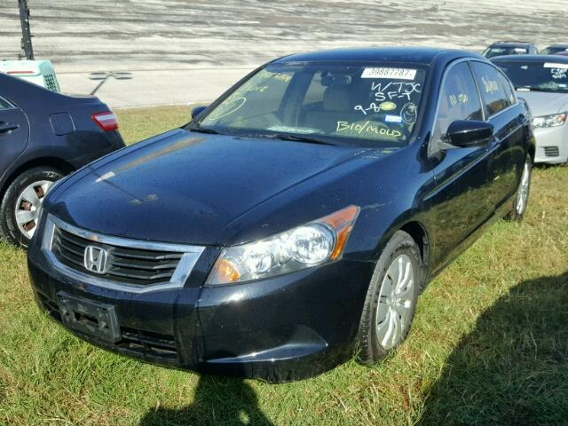 1HGCP26339A103721 - 2009 HONDA ACCORD LX BLACK photo 2