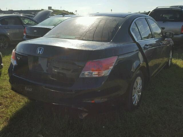 1HGCP26339A103721 - 2009 HONDA ACCORD LX BLACK photo 4
