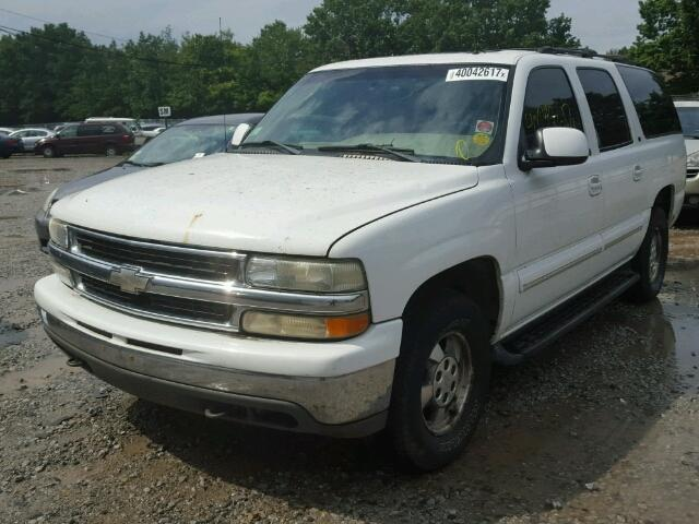 1GNFK16Z12J235396 - 2002 CHEVROLET SUBURBAN WHITE photo 2