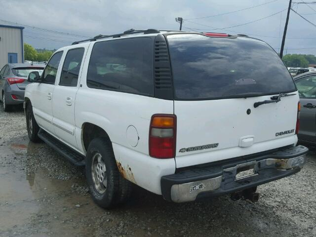 1GNFK16Z12J235396 - 2002 CHEVROLET SUBURBAN WHITE photo 3