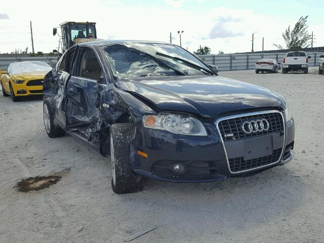 WAUAF78E28A083316 - 2008 AUDI A4 2.0T BLUE photo 1