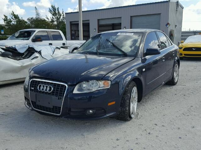 WAUAF78E28A083316 - 2008 AUDI A4 2.0T BLUE photo 2