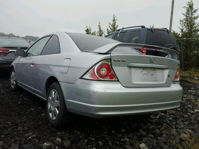 1HGEM22932L083699 - 2002 HONDA CIVIC EX SILVER photo 3