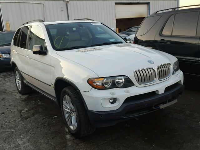 5UXFB53516LV22523 - 2006 BMW X5 4.4I WHITE photo 1